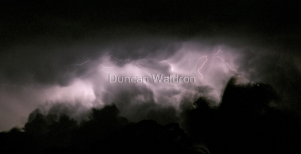 Lightning in cloud by Duncan Waldron