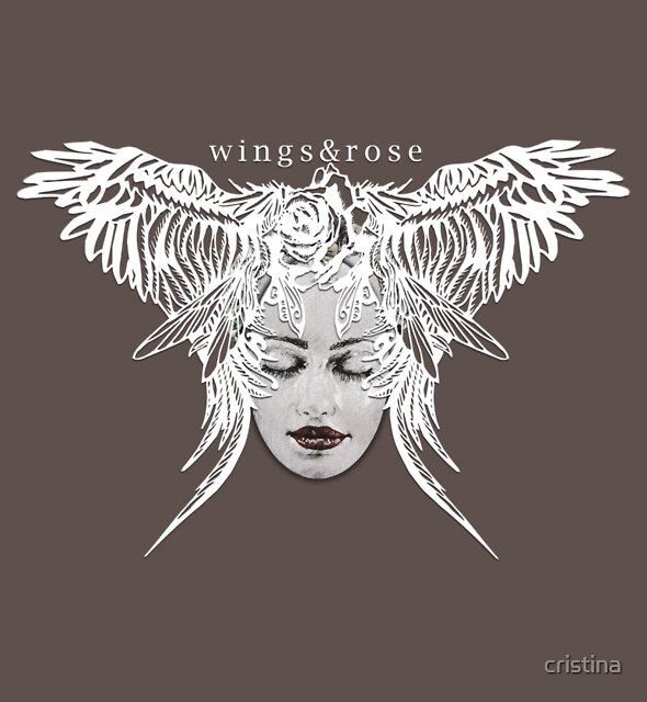wings&rose white by cristina