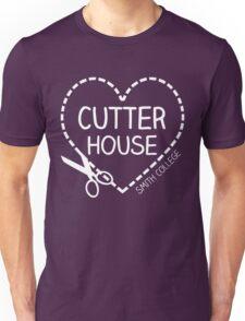 Cutter House Cutout Heart (white) Unisex T-Shirt