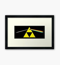 the dark side of the triforce Framed Print