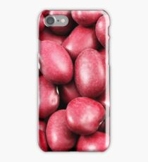 An extreme macro image of dried red beans iPhone Case/Skin