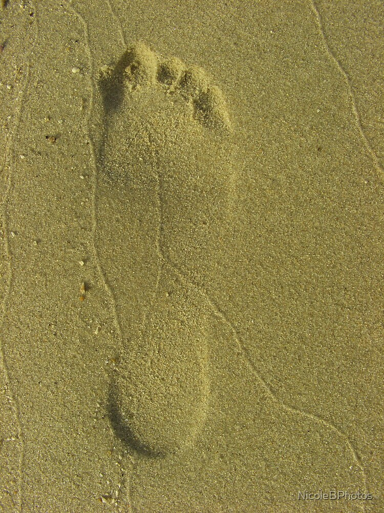 Step ahead - Footprint at the beach by NicoleBPhotos