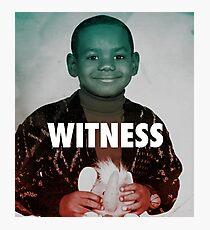 lebron james witness Photographic Print