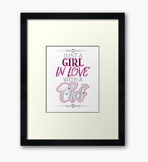 GIRL IN LOVE WITH CHEF  Framed Print