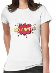 Pop Art Power Quote | No Limits | Red Womens Fitted T-Shirt