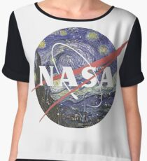 NASA Logo Starry Night Chiffon Top