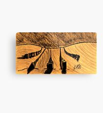 SHAPES IN THE SAND Metal Print