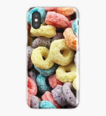 A macro image of fruit flavored breakfast cereal iPhone Case/Skin