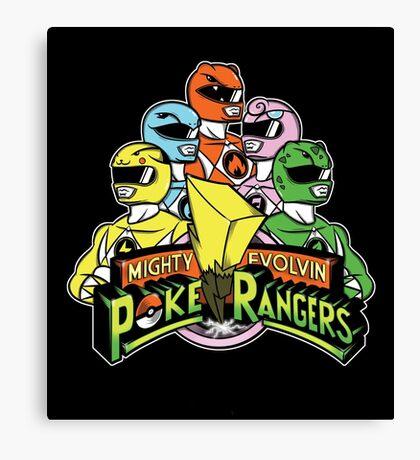 PokeRangers Canvas Print