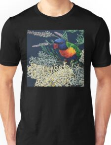 Rainbow Lorikeet and Grevillea Unisex T-Shirt