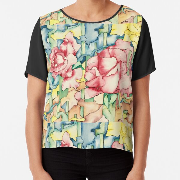 Rose Garden Chiffon Top