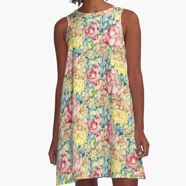 Rose Garden A-Line Dress