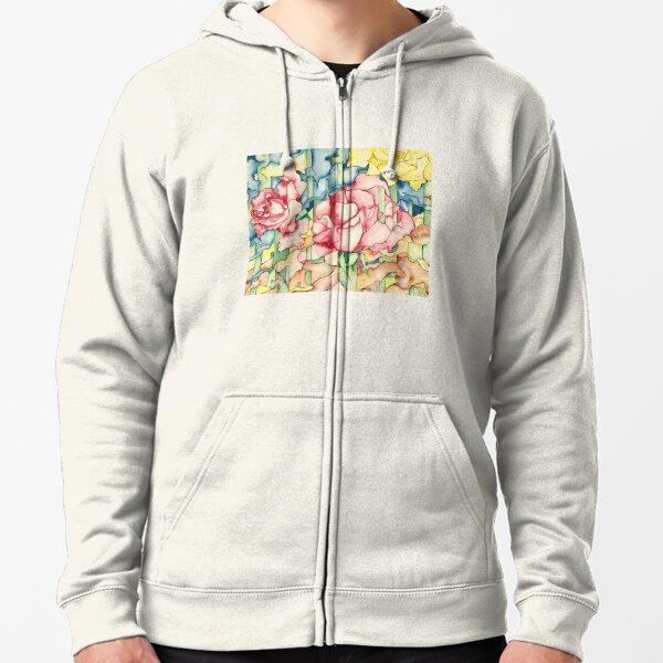 Rose Garden Zipped Hoodie
