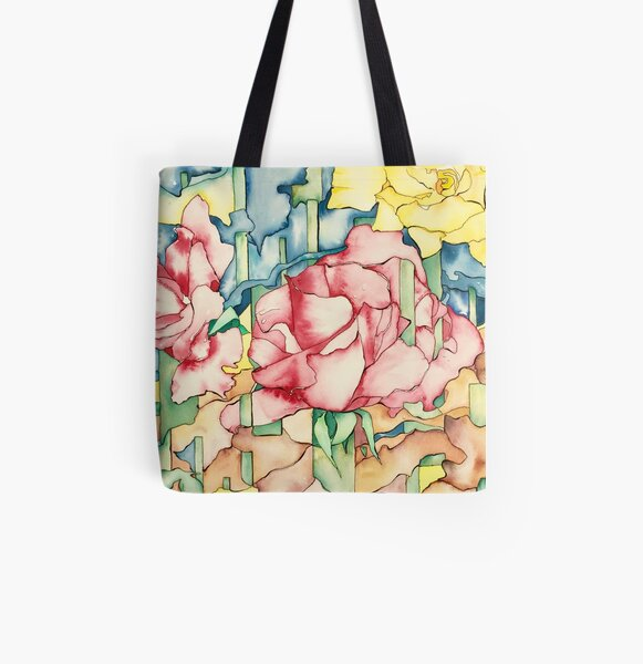 Rose Garden All Over Print Tote Bag