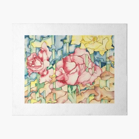 Rose Garden Art Board Print