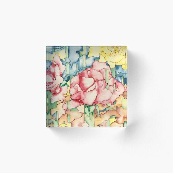 Rose Garden Acrylic Block