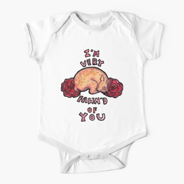 Very Fawn'd Short Sleeve Baby One-Piece