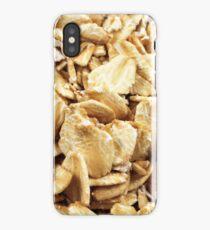 A close up image of whole grain oatmeal iPhone Case/Skin