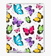 Colorful Pattern With Flat Futterflies Flying iPad Case/Skin