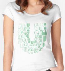 Font Fashion U Women's Fitted Scoop T-Shirt