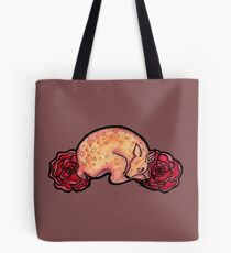 Fawn and Roses Tote Bag