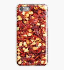 A close up image of crushed red chilis iPhone Case/Skin