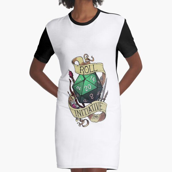 Roll Initiative Graphic T-Shirt Dress