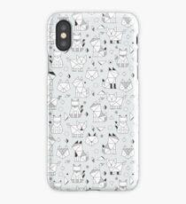 Origami cats iPhone Case/Skin
