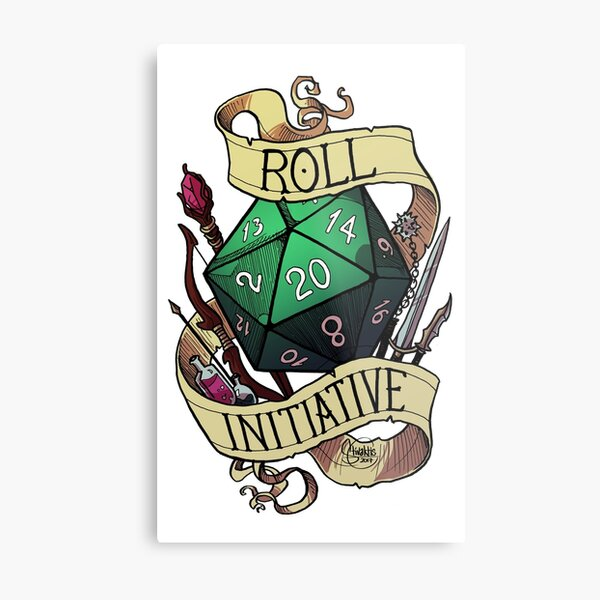 Roll Initiative Metal Print