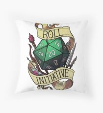 Roll Initiative Throw Pillow
