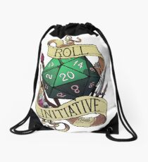 Roll Initiative Drawstring Bag