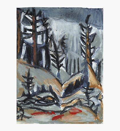North Woods Mood(Based on a Watercolor by Charles E. Burchfield Photographic Print
