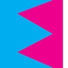 Zig Zag Phone Case Blue/Pink by psychoandy