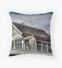 The Old Station House Throw Pillow