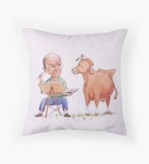 Opinionated cow! Throw Pillow