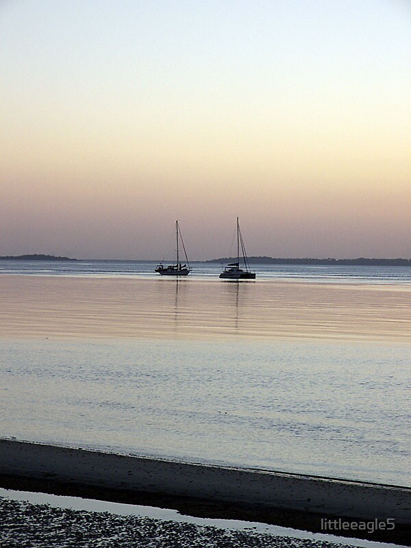 Boats at eventide Fraser Island, Queensland by littleeagle5