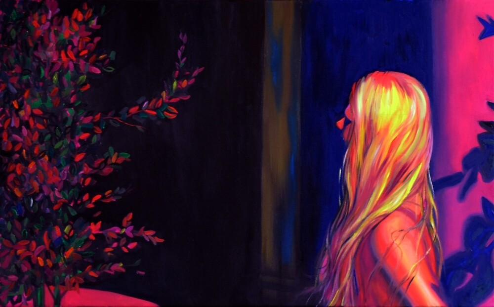 This is my dream, 50-80cm, 2017, oil on canvas by oanaunciuleanu