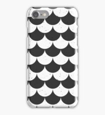 Fish Scale black and white iPhone Case/Skin