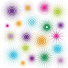 Retro circles by Heather Hood