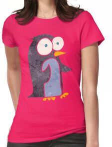 retro cartoon penguin Womens Fitted T-Shirt