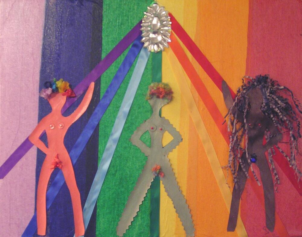 "Rainbow women by Robin ""Durga"" Hoffman"