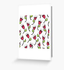Doodle tulip seamless pattern. Simple hand drawn background. Sketch wallpaper. Vector illustration. Greeting Card