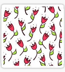 Doodle tulip seamless pattern. Simple hand drawn background. Sketch wallpaper. Vector illustration. Sticker