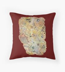 captain piri reis historical old world map Throw Pillow