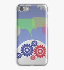 businessman and speech bubble iPhone Case/Skin