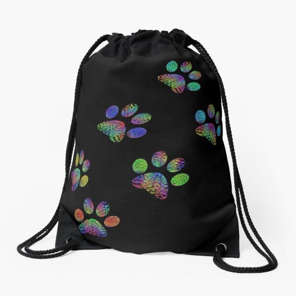 Paw prints. Drawstring Bag