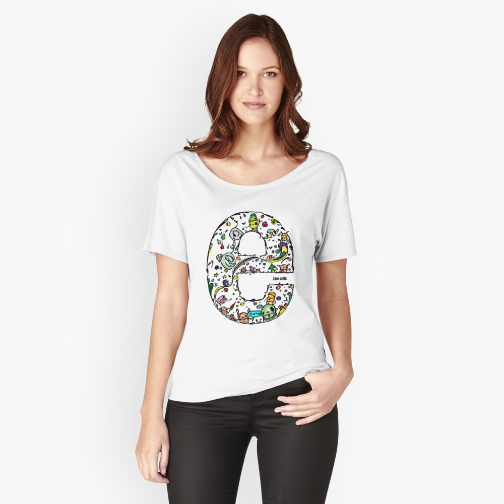 IMOK Letter e Women's Relaxed Fit T-Shirt Front