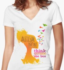 Autism mom Awareness Autism tshirt Women's Fitted V-Neck T-Shirt