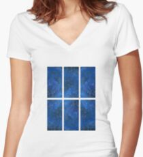 The view from one window of the TARDIS Women's Fitted V-Neck T-Shirt