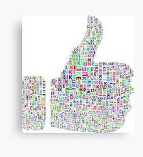 Like hand like youtube internet Canvas Print